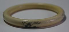 Antique Ivory Scrimshaw Bracelet (blackthorne56) Tags: ship with antique five ivory bracelet scenes scrimshaw