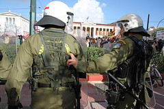 Police forces at a protest march in Athens, Greece (paul.katzenberger) Tags: protest police athens greece eurocrisis