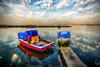 Colours of sea, Izmir (Nejdet Duzen) Tags: trip travel blue red sea reflection green turkey boat cloudy jetty türkiye deniz mavi iskele sandal izmir yeşil yansıma turkei kırmızı seyahat bostanlı bulutlu mavişehir