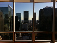 ... with river views (Drew Dies) Tags: light building window river phonecam island view natural manhattan picture down east stopped roosvelt citbank