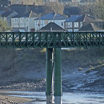 Railway bridge crossing the river Usk in Caerleon