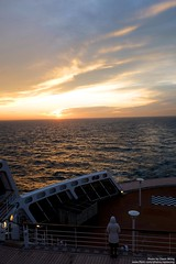 DSCF8806 (opnwong) Tags: travel cruise sunset sea clouds ship ngc queenmary cunard 2014 cloudsstormssunsetssunrises