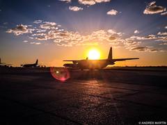 El Palomar (Andrs Martn / Tincho) Tags: sunset argentina airplane atardecer martin arm aircraft andres hercules tincho avion c130 iphone andresito iphone5