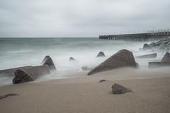 Temporal en Sant Adria de Besos (alimoche67) Tags: barcelona espaa sony playa 99 catalunya alpha olas slt temporal rocas badalona largaexposicion centraltermica translucentmirror josejurado
