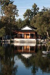 Chinese Garden pavillion (ponz) Tags: california lake reflection nature water garden huntingtonlibrary chinesegarden pasadena pavillion lrexportviajf