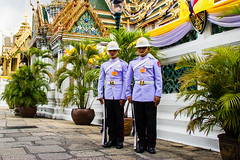 Royal Guards in Bangkok (inspiring!) Tags: travel people holiday travelling thailand photography asia niceshot photographer photos bangkok military working grandpalace inspiring aasia flickrfriday flickrstars flickrhearts flickraward earthasia bestpeopleschoice wonderfulasia crossaward