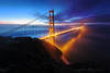 Winter's First Morning (Andrew Louie Photography) Tags: christmas morning bridge blue winter news colors fog sunrise season golden bay tim am gate san francisco holidays long exposure ryan marin north battery jazz 101 solstice hour area headlands spencer today interview 2014 740 kcbs