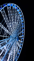 Ferris Wheel, Dsseldorf (Greenpants Photography) Tags: blue light colour wheel germany photography lowlight colours sony low ferris dsseldorf z1 xperia