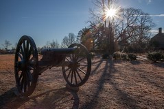 Sunrise Over Totopotomoy (T-3 Photography) Tags: sky sun history sunrise virginia nationalpark nps civilwar weapon cannon artillery nationalparkservice americanhistory ordnance armament civilwartrust