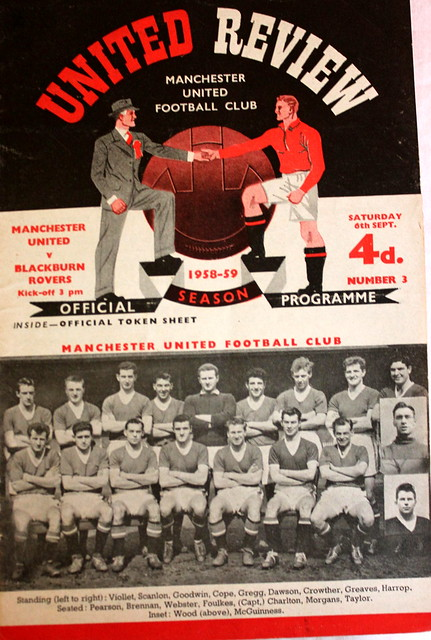Manchester United v Blackburn Rovers 1st Div 06-09-58