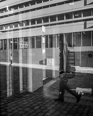 point of view (mahohn) Tags: windows bw reflection monochrome facade fenster hamburg 45 fassade fujix10