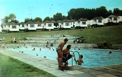 Pontins Dolphin Holiday Camp, Brixham (trainsandstuff) Tags: dolphinholidaycamp brixham devon pontins fredpontin vintage archival swimmingpool dolphin holidaycamp retro swimming pool