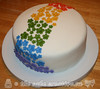 Rainbow Flowers Bridal Shower Cake