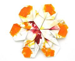 Fujimoto hexagone Rosette  19 front (Pliages et vagabondages) Tags: origami rosette décoration déco fujimoto