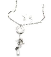 5th Avenue White Necklace P2610-3