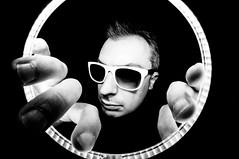 Self portrait (maxlaurenzi) Tags: light portrait white black strange beautiful face sunglasses fashion self dark surreal ring selfie