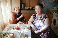 Afternoon Tea (laskaproject) Tags: old family light portrait history home dinner easter table afternoon grandmother tea traditional country ukraine relatives generations donetsk