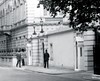 Clarence House, Stable Yard Road, St James's Palace, Westminster, London, SW1. UK 1950's. (sgterniebilko) Tags: uk london westminster ad security 1950s royalty themall sw1 royals royalfamily centrallondon scotlandyard stjamess metropolitanpolice clarencehouse alphadelta policeconstable inuniform canonrow stableyardroad cannonrowpolicestation aorwhitehalldivision