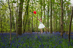 Bluebell dreams (Peely 22) Tags: blue red white green bluebells balloons pretty dress floating levitation float bluebell levitate