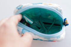 Ncessaire /  Toilet Bag (Canela Cheia) Tags: travel bag patchwork bolsa necessaire telmovel toitet