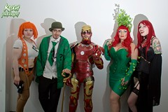 IMG_0463 (Neil Keogh Photography) Tags: red orange brown white black male green film cane shirt female comics gold dc gun highheels dress pants lace vampire top tie ivy ironman esmee stocks suit wig questionmark bowlerhat batman scifi corset cape dccomics fangs marvel armour poisonivy marvelcomics cosplayers thefifthelement powersuit theriddler walkingcane stockingssuspenders salfordcomiccon2016