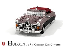 Hudson 1949 Commodore Eight Convertible (lego911) Tags: auto usa classic car america model lego render 8 convertible 1940s chrome commodore hudson fabulous eight forties challenge 103 1949 cad lugnuts povray moc ldd miniland foitsop lego911 thefabulousforties