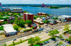 Toy Train (mrbrkly) Tags: norfolk monorail norfolkva tiltshift thetide may2016