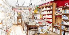 La Rochelle, Librairie Les Saisons (Croctoo) Tags: croctoo croctoofr croquis aquarelle watercolor larochelle charentemaritime boutique bouquins librairie poitoucharentes livre bouquin