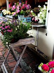 flower (erdbeerliebe) Tags: tisch freshflowers wochenmarkt blumenstraus