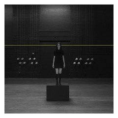 stage fright (bravery914) Tags: black white yellow line photo photography final scad canon savannah 5d mark ii