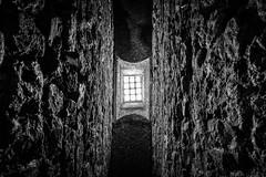 Underground IV (Zesk MF) Tags: old bw white black window up wall roman bricks under sigma down 8mm mauer zesk