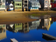 Seaside Reflections (Professor Bop) Tags: professorbop drjazz olympusem1 rockportmassachusetts water buildings houses structures reflections sea mosca