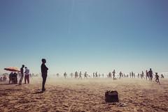 (Alexander Graeff) Tags: sky people beach strand canon eos football sand soccer marocco casablanca 20mm dust 550d