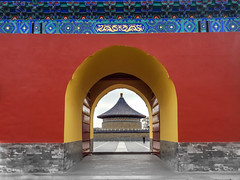 Temple of Heaven (mrhortonphotos) Tags: china chinese beijing temple heaven travel dragon arch architecture