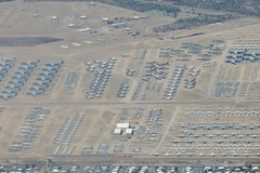 IMG_2328 Tucson AZ - DM AFB - boneyard - AMARC, east side (colinLmiller) Tags: tucson airplanes boneyard windowseat afb davismonthan amarc 2016