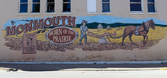 Mural in downtown Monmouth, Illinois (Blake Gumprecht) Tags: art public illinois mural downtown monmouth publicart collegetowns bornoftheprairie