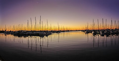 Manly Harbour (corymbia) Tags: manlyboatharbour yacht boat sea harbour sky dawn sunrise reflection water