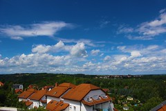 There's no place like home. (kkaarlyy) Tags: blue sky cloud color green home nature colors clouds germany deutschland photography dresden colorful flickr fotografie cloudy hometown saxony natur himmel wolke wolken haus sachsen blau farbe weite cloudporn homesweethome bunt heimat farben huser wolkig freiberg weit weis skyporn