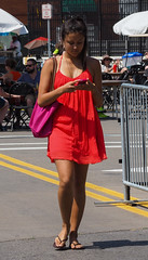 Texting While Walking (tim.perdue) Tags: comfest 2016 community festival columbus ohio goodale park outdoor summer party short north victorian village downtown urban city