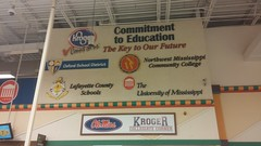 Commitment to Education: The Key to Our Future (Retail Retell) Tags: oxford ms kroger millennium dcor grocery store university mississippi ole miss lafayette county retail