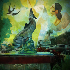 A Fish Story (Karen Kleis) Tags: fish texture photomanipulation digitalart story hypothetical arteffects
