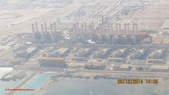 Ras Abu Fontas station ( KAHRAMAA ) from Airplane before Landing at Hamad International Airport - State of Qatar (Feras.Qadoura1) Tags: city station airport state international abu hamad ras doha qatar      fontas kahramaa   othh