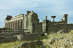 Roman ruins at Volubilis, Morocco (Miche & Jon Rousell) Tags: africa northafrica morocco romanempire volubilis archaeologicalsite moulayidris idrisi idrisiddynasty