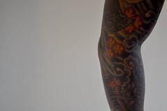 Pheonix/Mum by Jeff Croci (Johnson Xiong) Tags: sf bw white black jeff tattoo japanese san francisco mum cherryblossom yakuza chrysanthemum pheonix croci irezumi biomech 7thsontattoo 7thson seventhsontattoo jeffcroci