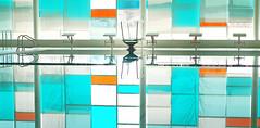 A Reflective Dip? (jonnyherb) Tags: colour reflection water pool race swimmingpool colouredglass divingplatforms