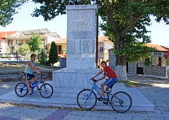 Macedonia, Greece, Kelli village, macedonian kids cycling infront of a memorial, Greece (Macedonia Travel & News) Tags: macedonia west ancient culture vergina sun florina hellenic republic mavrovo nato eu fifa uefa un fiba greecemacedonia macedonianstar verginasun aegeansea 75929 macedoniagreece makedonia timeless macedonian macédoine mazedonien μακεδονια македонија travel prilep tetovo bitola kumanovo veles gostivar strumica stip struga negotino kavadarsi gevgelija skopje debar matka ohrid heraclea lyncestis macedoniatimeless tourism