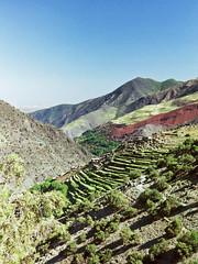 High Atlas mountains, Morocco (Miche & Jon Rousell) Tags: africa mountains trekking trek northafrica morocco fields highatlas toubkel tizioussem tazagharte