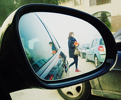 Maria (PattyK.) Tags: reflection girl car mirror friend december maria greece griechenland whereilive ilovephotography ioannina giannina  giannena