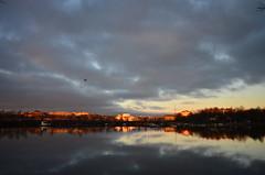 Tokoinlahti (Olli Ronimus) Tags: morning reflection sunrise helsinki center meri keskusta heijastus siltasaari aamu tokoinlahti seaauringonnousu