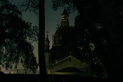 Church Near Elysian (EARnagram) Tags: park night 35mm los long exposure downtown angeles voigtlander elysian t12